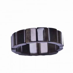 Bracelet obsidienne œil céleste forme rectangle