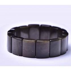 Bracelet obsidienne œil céleste forme rectangle