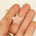 Pendentif étoile Quartz rose