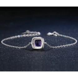 Bracelet chaînette améthyste