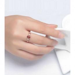 Bague anneau pierre grenat argent S925