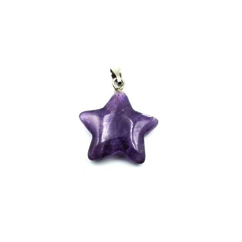 Pendentif étoile 5 branches pierre Améthyste