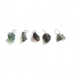 Pendentif moldavite brute