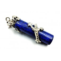 Pendentif Lapis-Lazuli dragon cylindre
