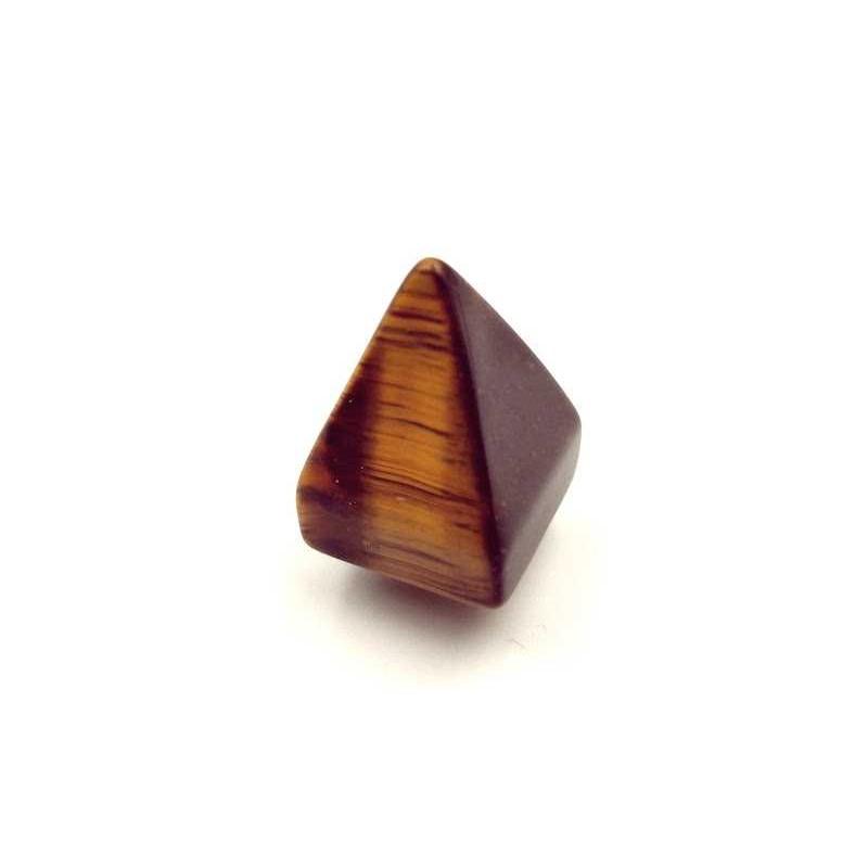 Pendentif forme pyramide Pierre œil de tigre