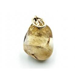 Pendentif citrine naturel pierre roulée