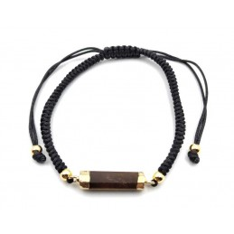 Bracelet tube œil de tigre pierre facettée