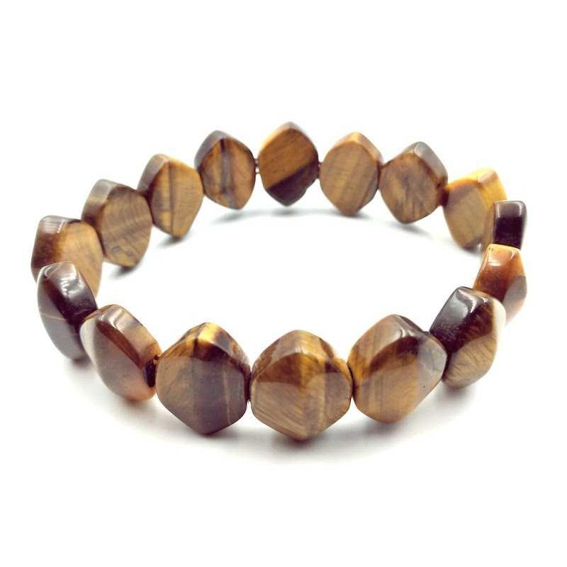 Bracelet losange pierres œil de tigre