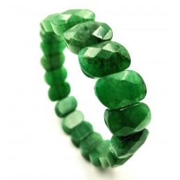 Bracelet aventurine pierres facettée
