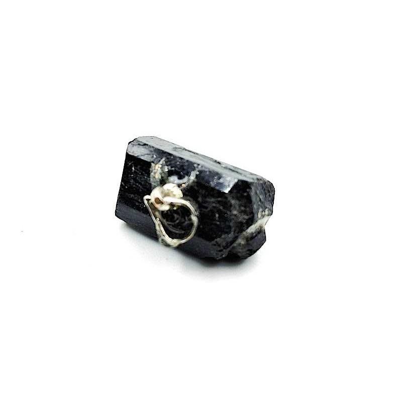 Pendentif tourmaline noir brut