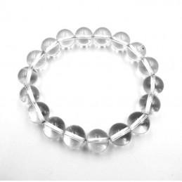Bracelet boules pierre cristal de roche 8mm