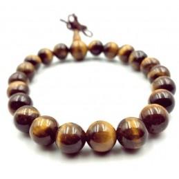 Bracelet tibétain pierre œil de tigre 8 mm