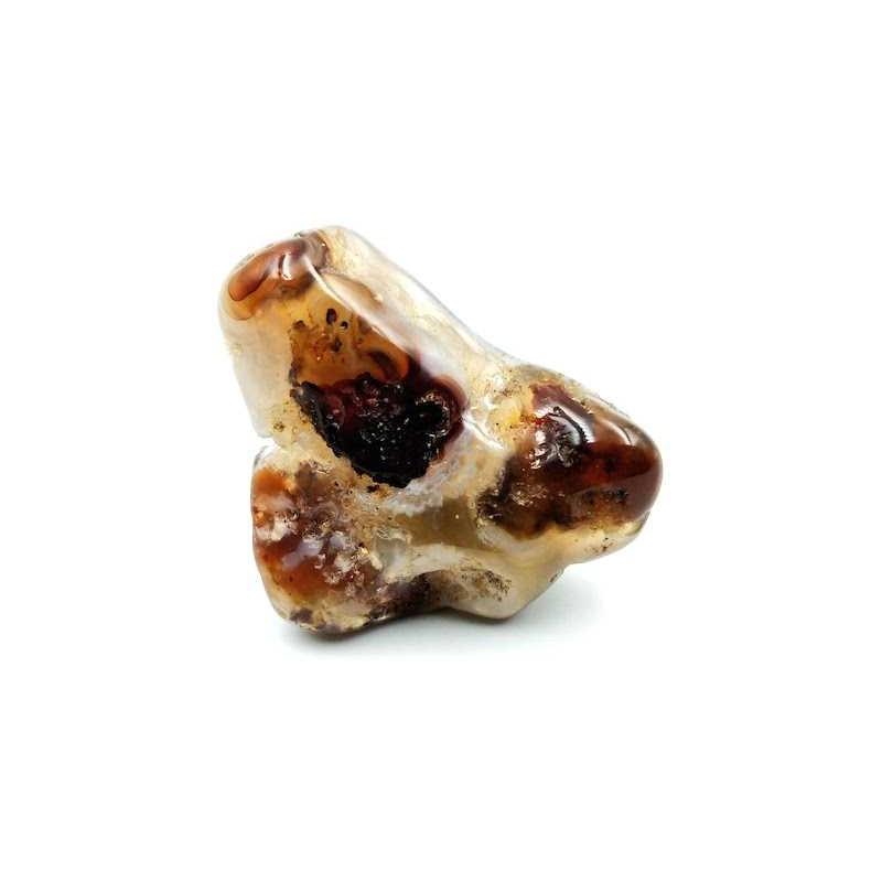 Agate Feu pierre roulée