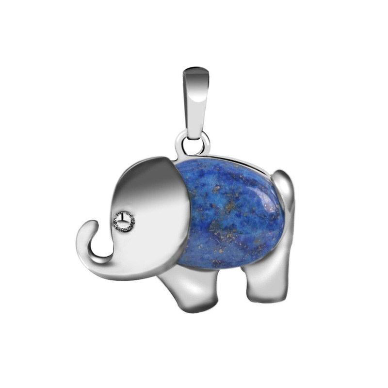 Pendentif éléphant Pierre lapis-lazuli