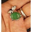 Pendentif lapin pierre aventurine verte