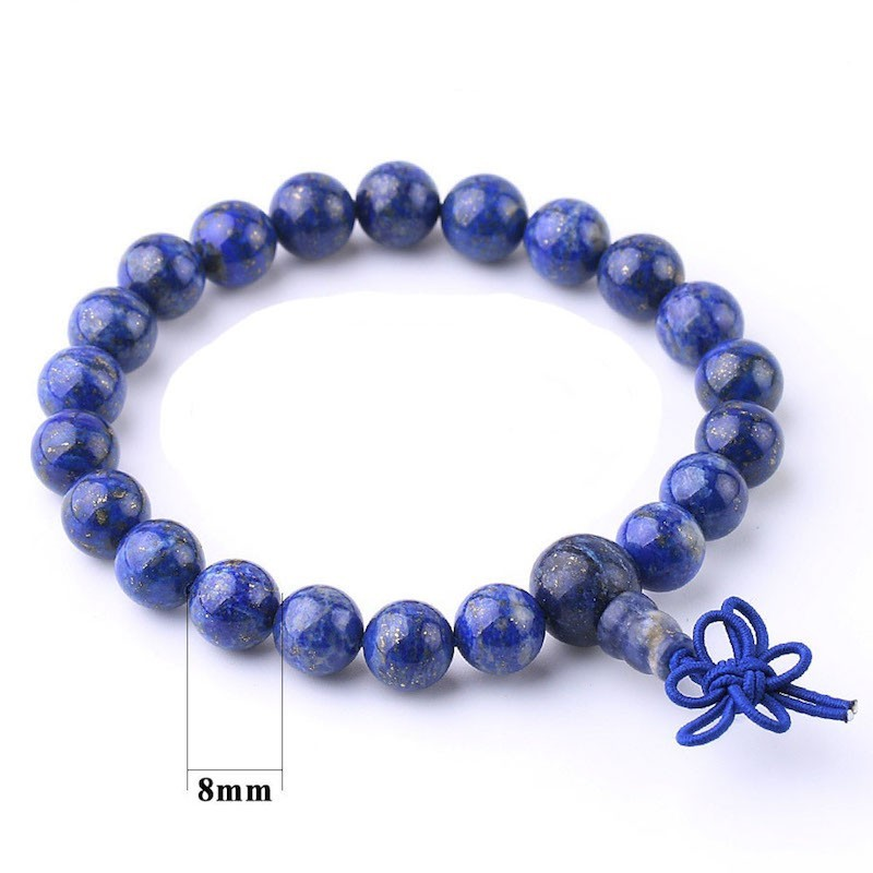 Bracelet tibétain pierre lapis-lazuli 8 mm