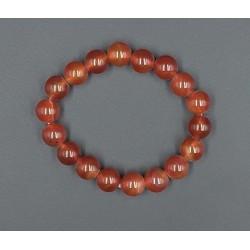 Bracelet pierres cornaline boule 8 mm