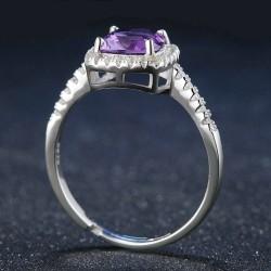 Bague anneau Améthyste argent 925