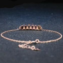 Bracelet tourmaline multicolore chaîne argent 925