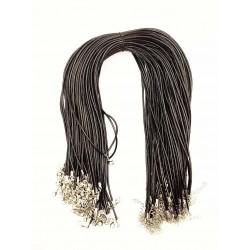 Cordon avec attache mousqueton noir